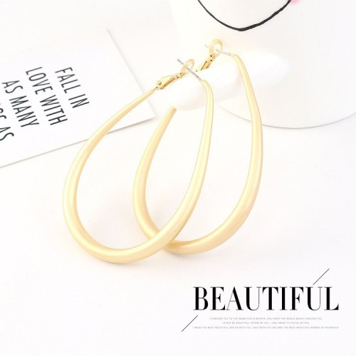European Simple Earrings Women Exaggerated Cool Fashion All-match S925 Silver Needle Ear Stud Earrings 140569