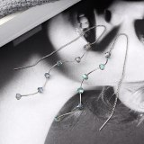 Korean Long Tassel Earrings Female Spiral S-Shaped Adjustable Hanging Earrings 925 Sterling Silver Needle Jewelry 139933
