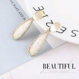 European and American Simple Geometric Acrylic Earrings Girl Hipster S925 Silver Needle Earrings Jewelry 138813