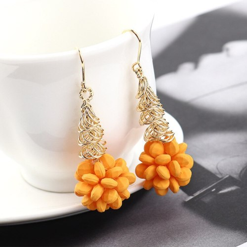New Earrings Korean Hipster Fashion Wild Acrylic Earrings Ms. Yellow Fruit Earrings Jewelry 140019
