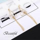 New Korean Fashion Elegant Earrings Women's Tassel Earrings S925 Sterling Silver Needle Triangle Stud Earrings 138823