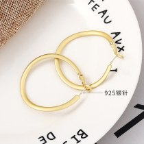 New European and American Exaggerated Simple Earrings Female Ring S925 Silver Pin Earrings Small Jewelry 138709