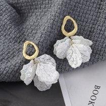 New European Simple Cool All-match Preserved Fresh Flower Petal Earrings Female S925 Sterling Silver Needle Earrings 138853