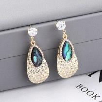 New Creative Drop Earrings Women Diamond Set Fashion Elegant Ear Stud S925 Sterling Silver Pin 138814