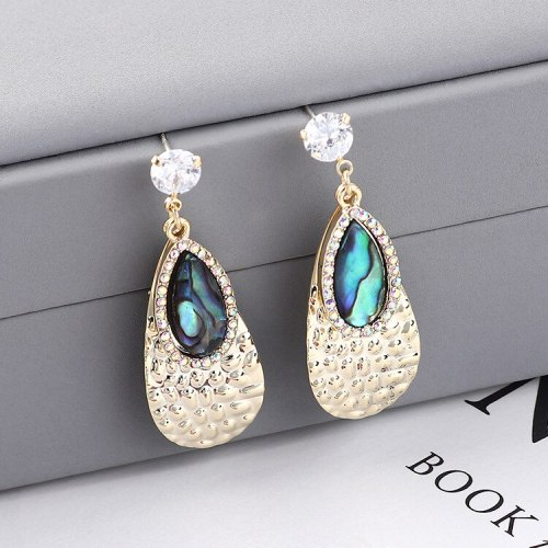 New Creative Drop Earrings Women Diamond Set Fashion Elegant Ear Stud S925 Sterling Silver Pin 138814