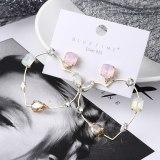 Korean-Style Stylish Geometric Zircon Earrings Women's Creative Exaggerated Lovely Stud Earrings 138930