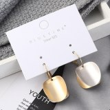 European Creative Retro Round Plate Double Color Metal Earrings Female Gold Plated S925 Silver Needle Stud Earrings 140145