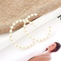 European and American Elegant Pearl Earrings Female Great Circle S925 Silver Needle Stud Earrings Ear Ring 138697