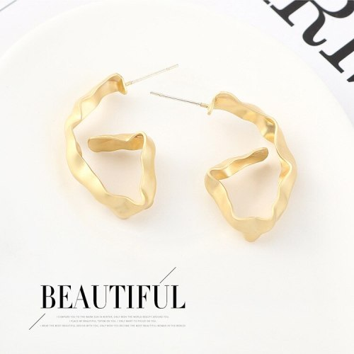 925 Silver Needle Ear Stud European and American Cool Simple Digital 6 Earrings Women's Small Jewelry 140554