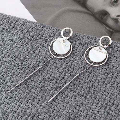 New European and American Elegant Long Tassel Earrings Women's Fashion Small Ring Resin Acrylic Stud Earrings 139855