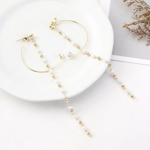 Women's Korean Elegant Long Tassel Earrings Creative Cool Fashion Zircon Earrings All-match S925 Silver Needle Jewelry 140548
