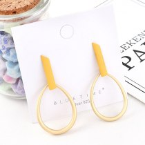 New European Creative Simple Drop-Shaped Earrings Female Fashion All-match Scrub S925 Silver Needle Earrings Jewelry 140492
