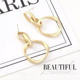 European and American Creative Personalized Earrings Women's Fashion All-match Irregular S925 Silver Needle Stud Earrings 140505