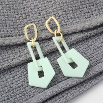 Korean Fashion Exaggerated Cool Acrylic Earrings Women's Long Hipster Geometric Cutout Earrings 140188