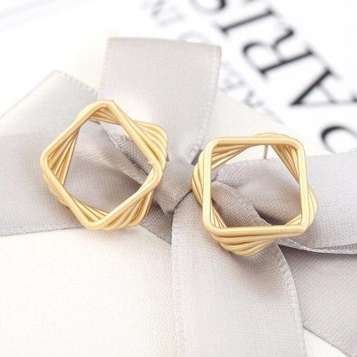 European Simple Creative Multi-Layer Diamond Earrings Women's Versatile Fashion Cool S925 Silver Needle Earrings 140493