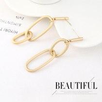 S925 Silver Pin Earrings Wholesale Simple Fashion Asymmetric Metal Stud Earrings All-match Jewelry 140553