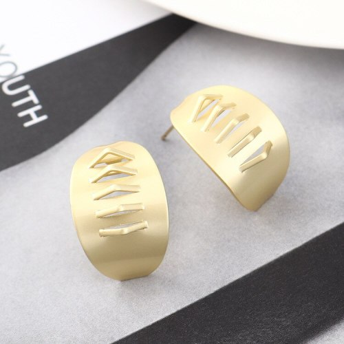 New Style Cool Earrings Women's Fashion C- Shaped 925 Sterling Silver Needle Stud Earrings 140136