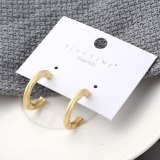 925 Sterling Silver Needle Stud Earrings Female European New Style Fashion Cool Hollow-out C-Shaped Letter Earrings Ring 138882
