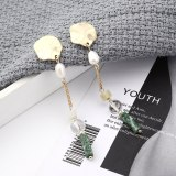 Creative All-match Natural Stone Pearl Earrings Women's Long Fashion Irregular Tassel Earrings Pure Silver Needle 139847