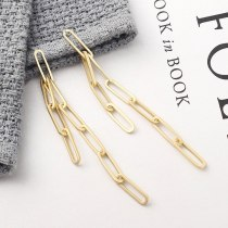 New Style S925 Silver Pin Earrings Jewelry Fashion Exaggerated Cool Chain Earrings Women's Fashion 140039