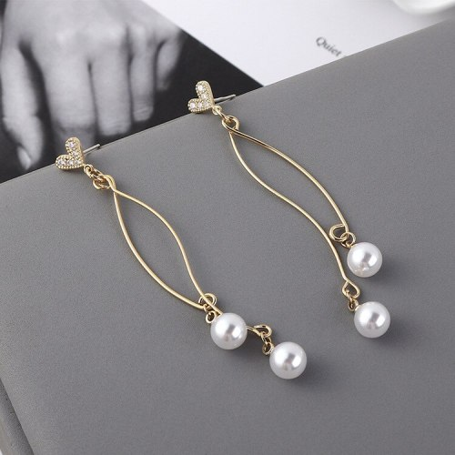 New Korean S925 Silver Needle Lovely Stud Earrings Female Temperament Fashion Tassel Earrings Pearl Earrings Wholesale 138857