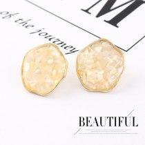 Korean Retro Fashion Hipster Shell Earrings Women's All-match S925 Silver Needle Irregular Flower Earrings Jewelry 140137
