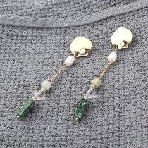 Creative All-match Natural Stone Pearl Earrings Women's Long Fashion Irregular Tassel Earrings Pure Silver Needle 139847