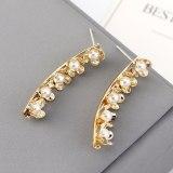 New Korean-Style Creative Fashion Elegant Pearl Earrings Women's Cool Flower S925 Silver Needle Stud Earrings 140149