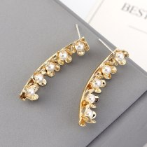 New Korean-Style Creative Fashion Elegant Pearl Earrings Women's Cool Flower S925 Silver Needle Stud Earrings 140149