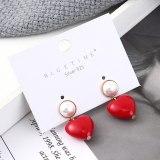 S925 Silver Needle Stud Earrings Female Hipster Sweet Lovely Earrings All-match Temperament Pearl Earrings Wholesale 139545
