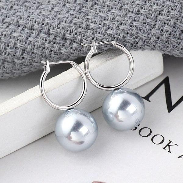 Korean-Style Simple and All-match Stud Earrings Female Pearl Earrings Hipster Jewelry 139553
