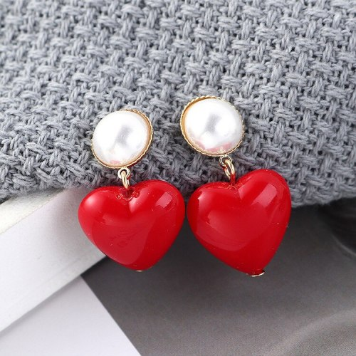 S925 Silver Needle Stud Earrings Female Hipster Sweet Lovely Earrings All-match Temperament Pearl Earrings Wholesale 139545