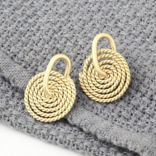 European Creative Cool Mosquito Coil Disc Earrings Women's All-match Spiral S925 Sterling Silver Needle Jewelry 140021
