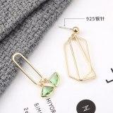 New Korean Personality Dress Fan Earrings Ladies Fashion Exaggerated Irregular Geometric Earrings Jewelry 139994