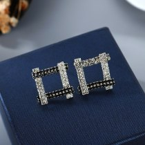Korean-Style Full Diamond Stud Earrings Women's Simple and Versatile Fashion Diamond Earrings S925 Silver Pin Jewelry B-4890