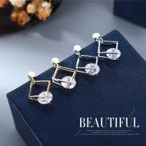 S925 Silver Needle Korean Exquisite Small Zircon Earrings Women's Simple Fashion Stud Earrings B-4861