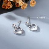 Korean New Style Shell Earrings Girl's All-match S925 Sterling Silver Needle Lovely Stud Earrings Jewelry B-4835