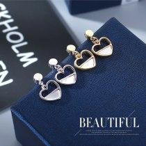 Korean New Style Shell Earrings Girl's All-match S925 Sterling Silver Needle Lovely Stud Earrings Jewelry B-4835