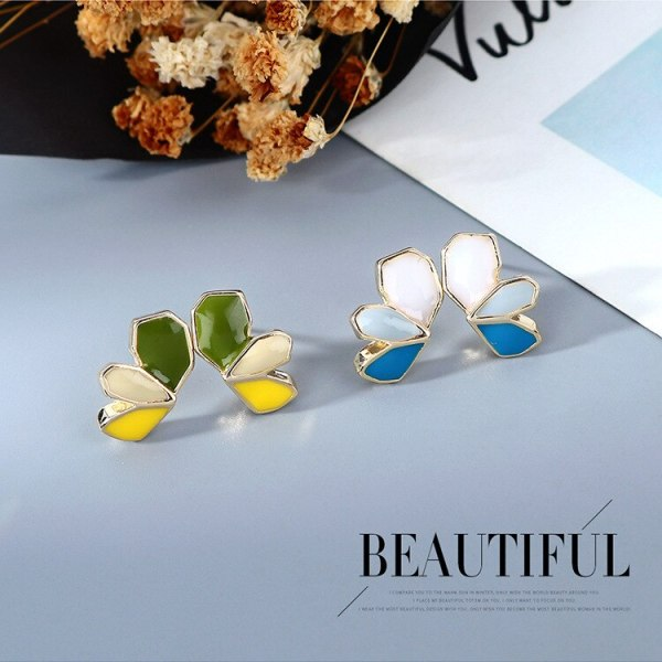2020 New Korean Style Butterfly Ear Stud Girl's Heart Hipster Ornament All-match Cute Wings Earrings S925 Silver Pin B-4946