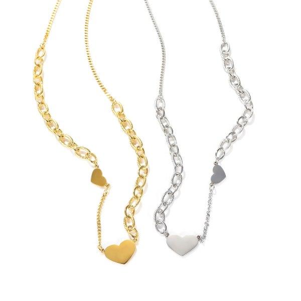 Korean Fashion Versatile Titanium Steel Necklace Women's Temperament Love Peach Heart Clavicle Chain Gb1728