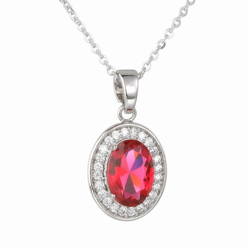 Crystal Zircon Inlaid Necklace Full Zirconium Pendant Fashion All-match Exquisite Pendant Women's Necklace Qx1079
