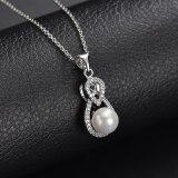 Pearl Necklace AAA Zircon Inlaid Pendant Rhinestone Simple All-match Pendant Gift Jewelry Qxwp1.2.3