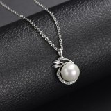 Pearl Necklace AAA Zircon Inlaid Pendant Rhinestone Simple All-match Pendant Gift Jewelry Qxwp1.2.3
