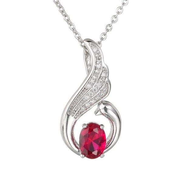 Angel Necklace AAA Eight Hearts Eight Arrows Zircon Inlaid Navy Zircon Exquisite Fashion Pendant Qxwp234
