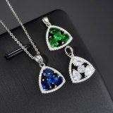 Geometric Pendant AAA Heart and Arrow Zircon Crystal Inlaid Pendant Necklace Simple and All-match Pendant Qxwp1085