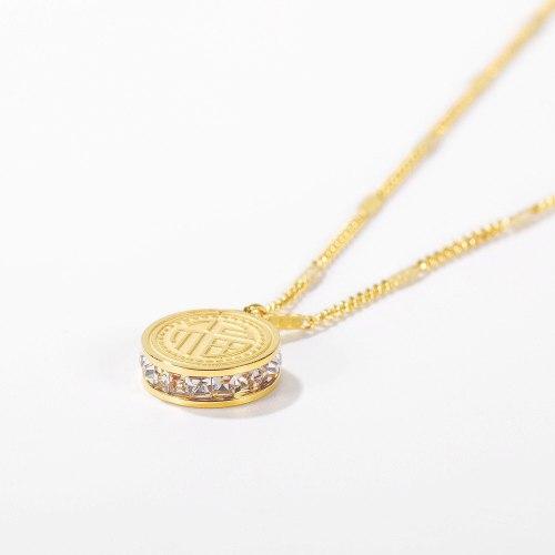 New Ns Jewelry Zirconium Titanium Necklace Femininity Clavicle Chain Fashion Fortune Pendant Accessories Gb1721