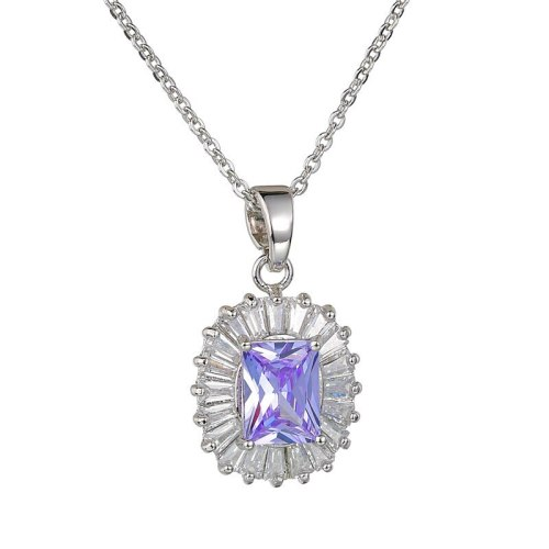 Zircon Pendant Necklace AAA Zircon Inlaid Necklace Fashion Pendant Qxwpe1259