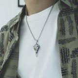 Europe and The United States Retro Symbol Necklace Jewelry Wholesale Skull Beak Pendant Tide Men Titanium Steel Necklace Gb1731