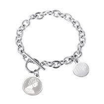 New Style Individual Fashion Ins Titanium Steel Bracelet Women's Korean Version Simple Ot Clasp Decoration GB1115