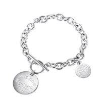 New Style Personalized Bracelet Fashion Love Disc Lady Titanium Steel Bracelet Wholesale Gb1117